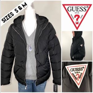 NEW🌟GUESS Hooded Puffer Jacket